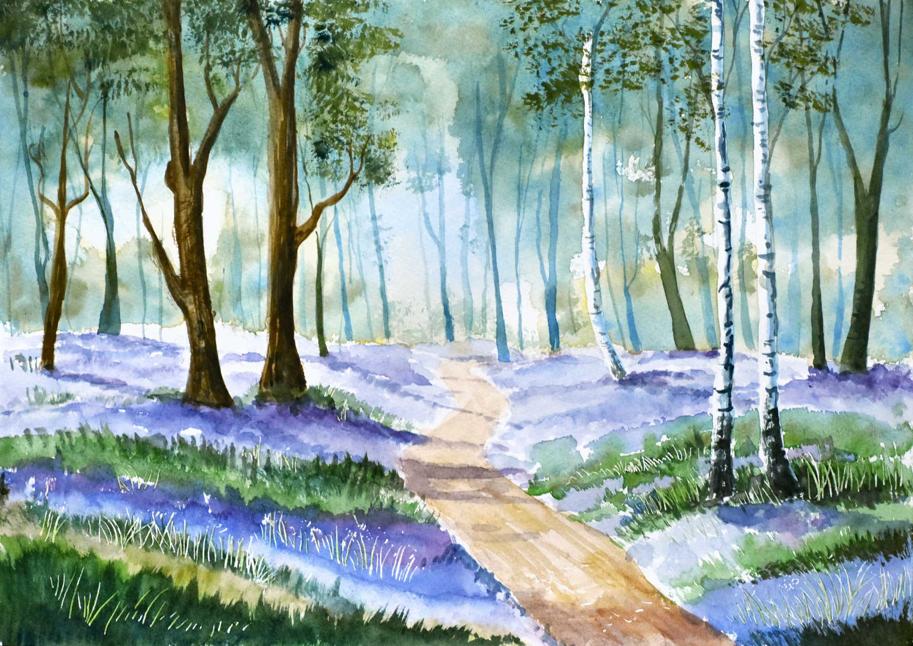 Blue Bell Woods, watercolour on paper