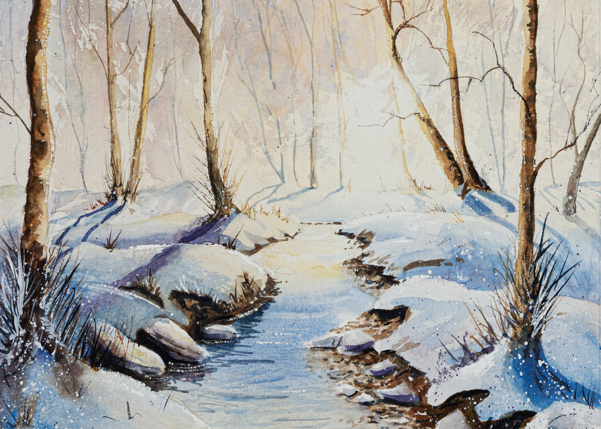 The Devon Painter, Bovey Tracey Winter Woods